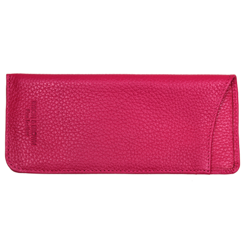 Leather Glasses Case - Fuchsia